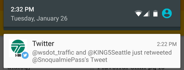 Twitter Notification Suggestion