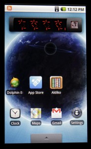 SmartQ V7 homescreen