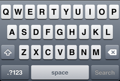 iOS Standard Keyboard