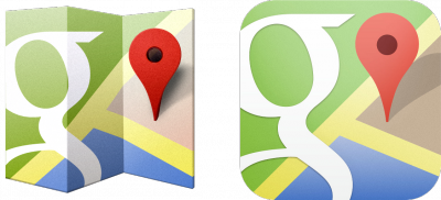 Google Maps Android and iOS icons