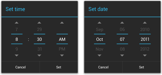 Date picker in android 4.0